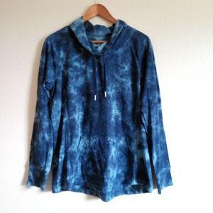 Style & Co. Tie Dye Cowl Sweater